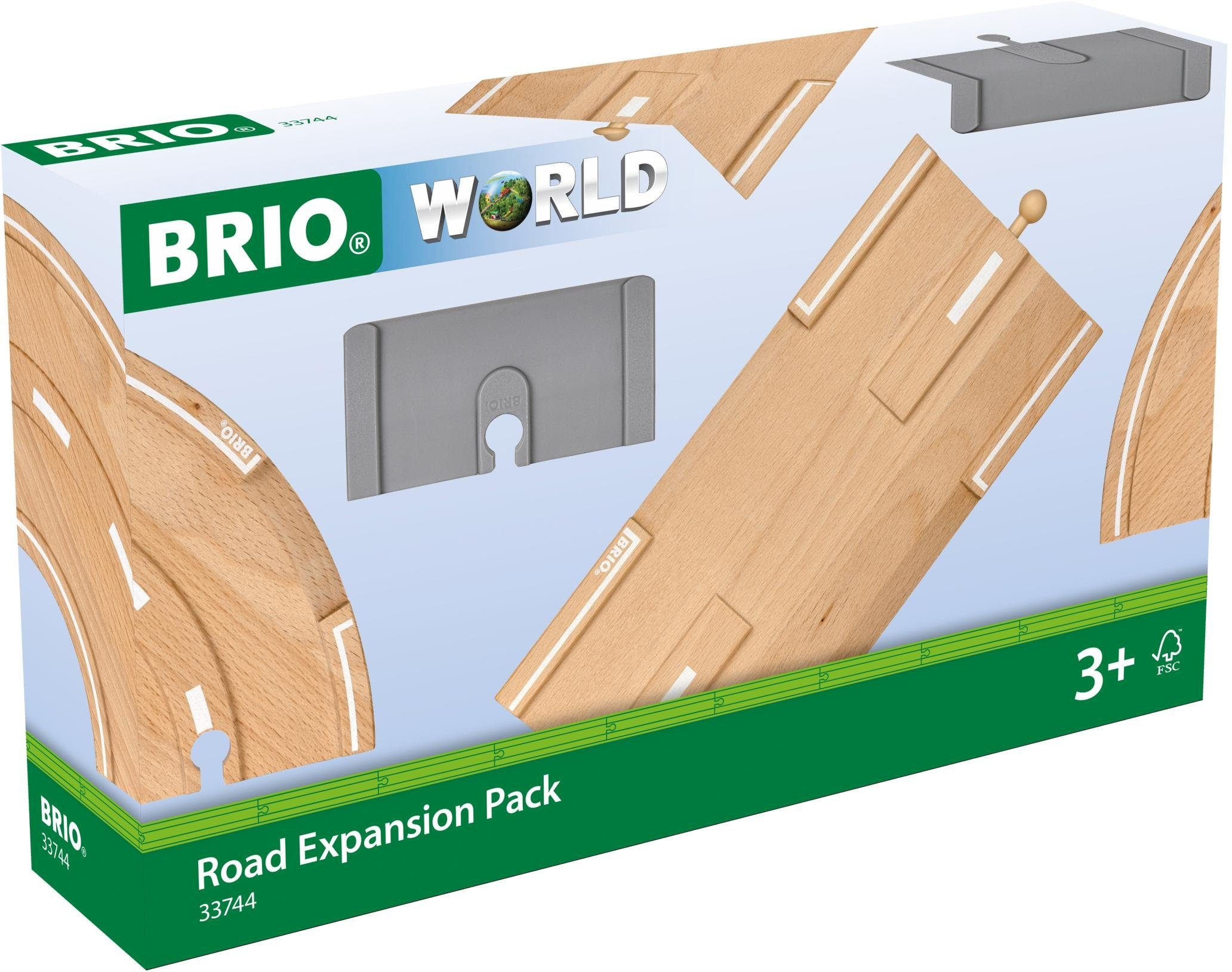 Brio® Zubehör für Spielzeugeisenbahn, »BRIO® WORLD Straßen-Erweiterungs-Set«