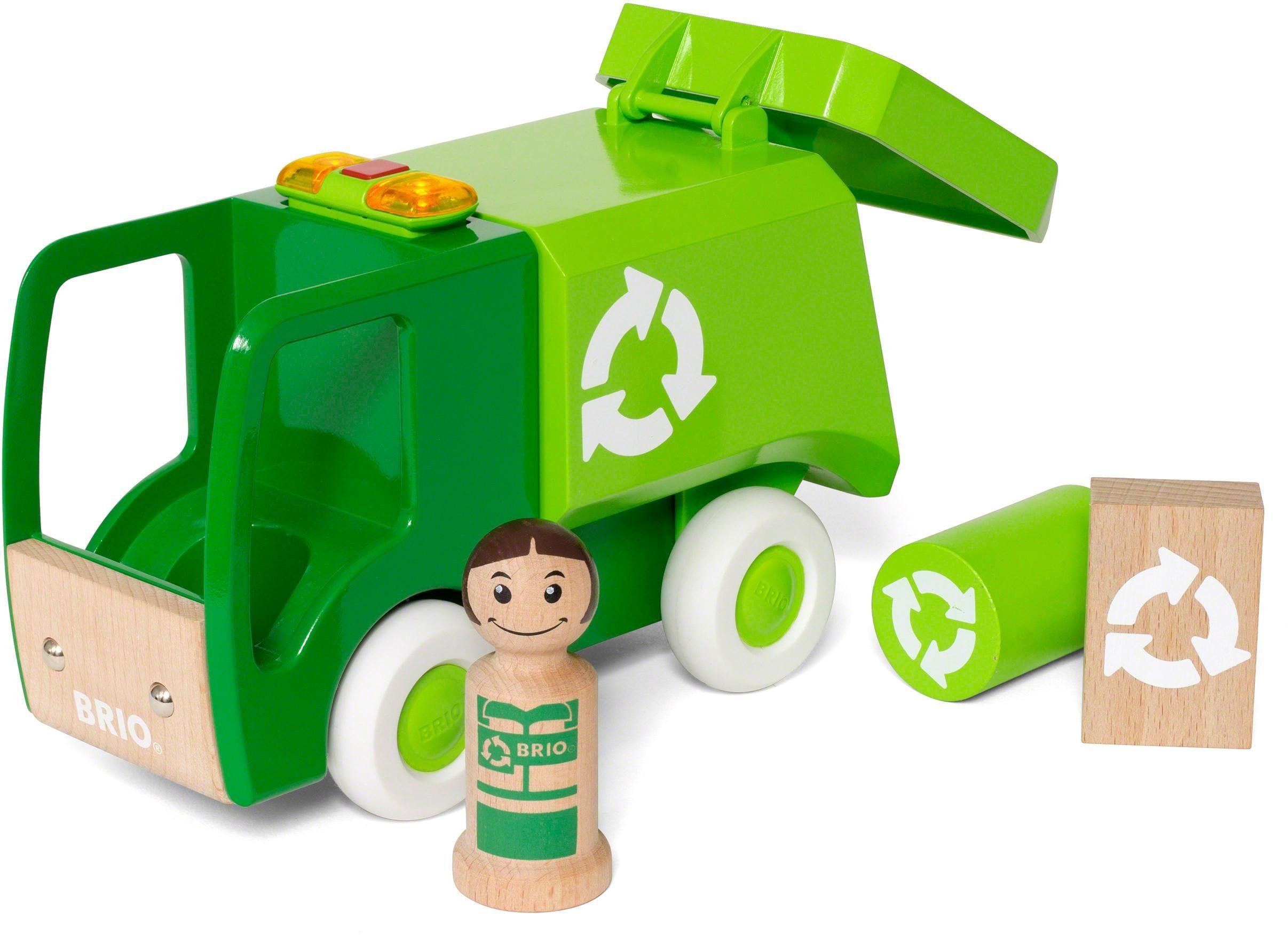 Brio® Spielfahrzeug aus Holz, »My Home Town Müllwagen mit Licht und Sound«