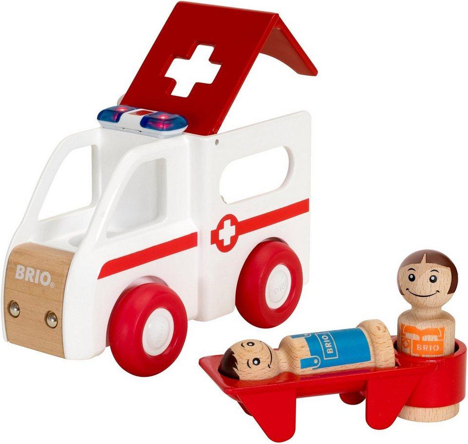 Brio® Spielset aus Holz,  My Home Town Krankenwagen mit Licht und Sound  online kaufen