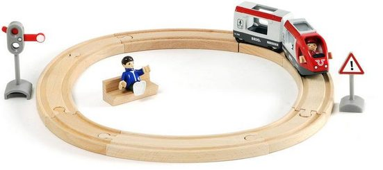BRIO® Spielzeug-Eisenbahn »BRIO® WORLD Bahn Starter Set Personenzug«, (Set)