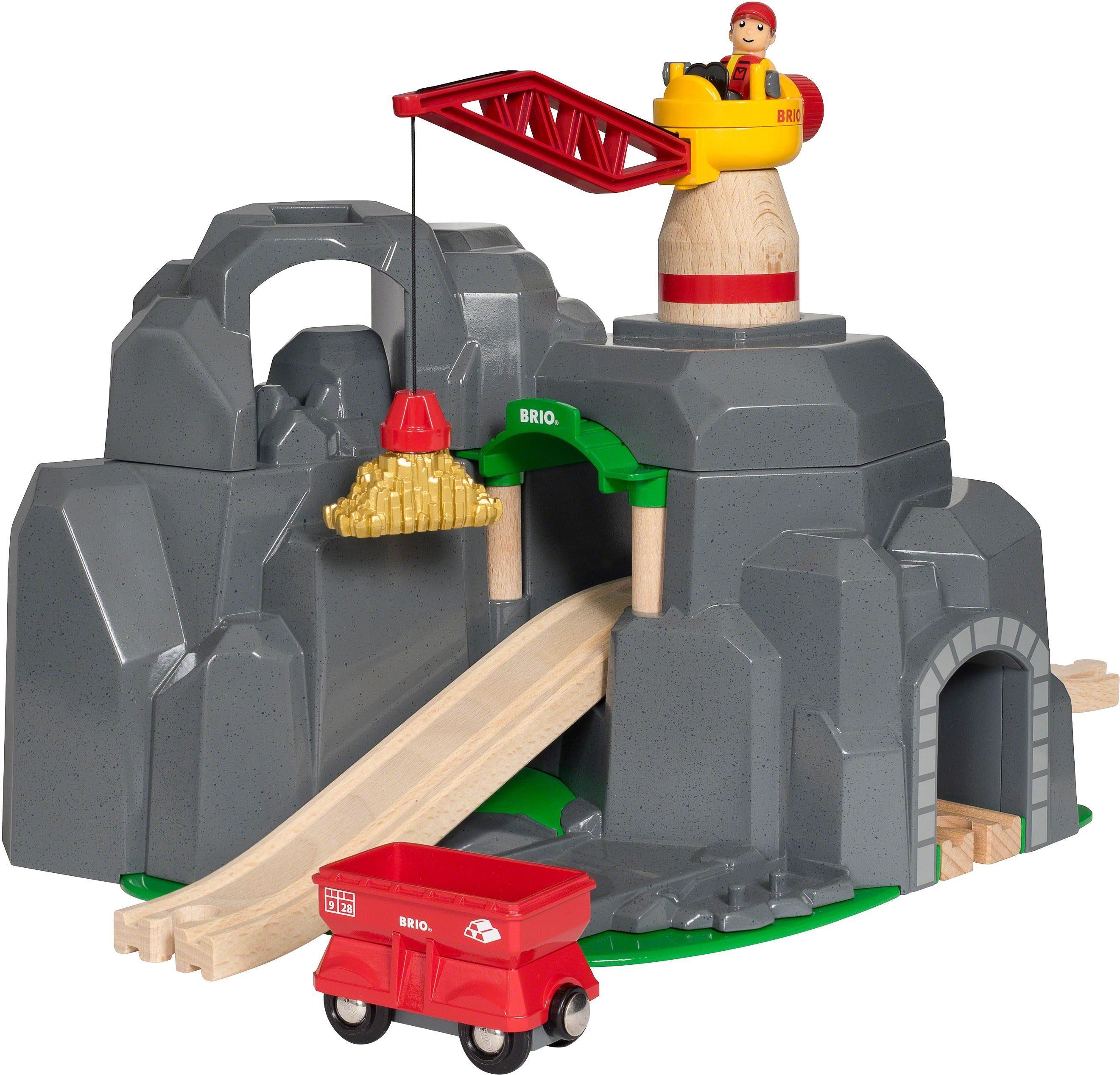 Brio® Zubehör für Spielzeugeisenbahn, »BRIO® WORLD Große Goldmine mit Sound-Tunnel«