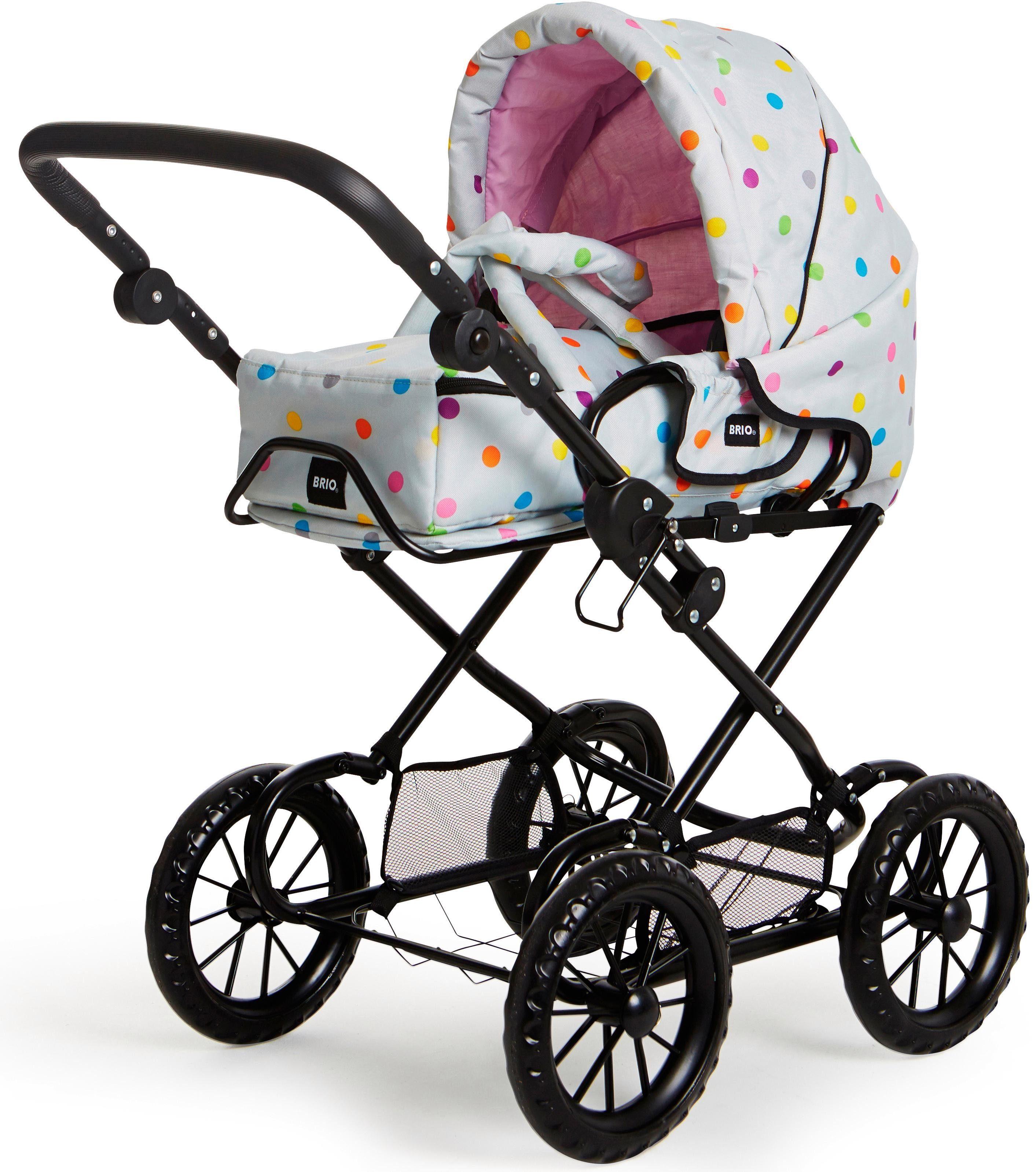 Brio® Puppenwagen mit Wickeltasche, »Combi, Grau mit Punkten«