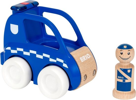 BRIO® Spielzeug-Auto »My Home Town Polizei-Flitzer mit Licht & Sound«, aus Holz