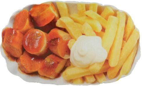 United Labels Kissen, »Pommes und Currywurst«