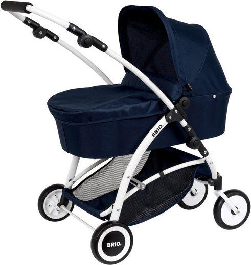 BRIO® Puppenwagen »Spin, blau«, mit Schwenkrädern