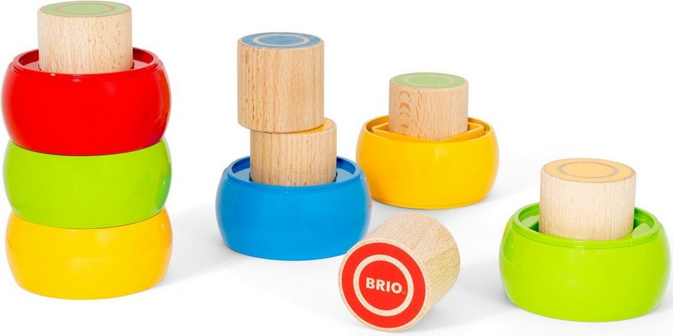 Brio® Stapelspiel aus Holz,  Motorik-Stapelturm