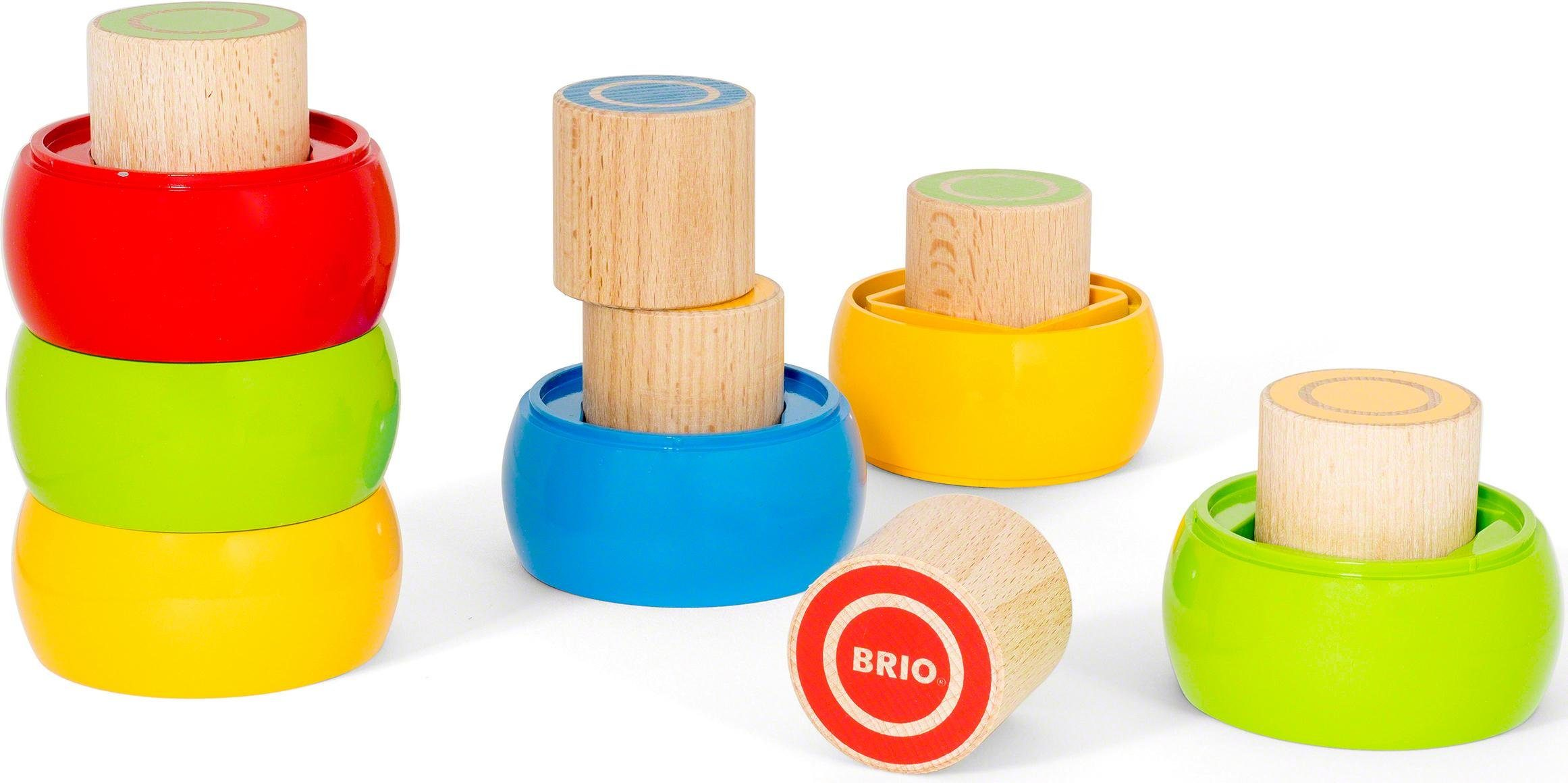 Brio® Stapelspiel aus Holz, »Motorik-Stapelturm«
