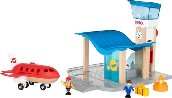 BRIO® Spielzeugeisenbahn-Gebäude »BRIO® WORLD Flughafen mit Tower«