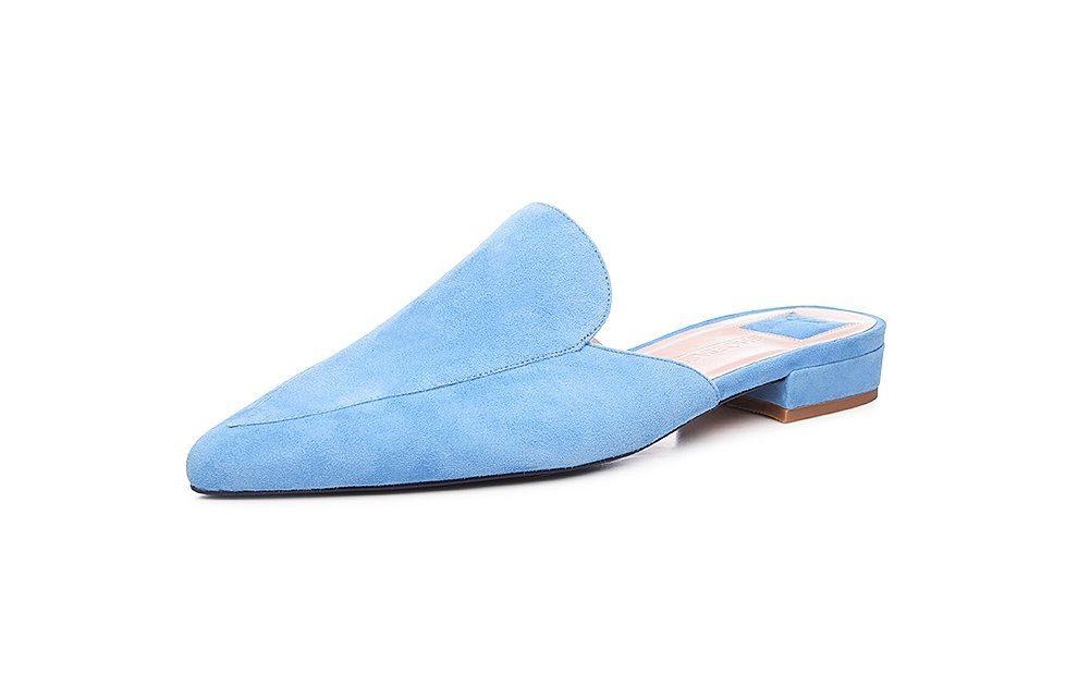 SHOEPASSION No 22 WP Pantolette, 100 % italienische Handarbeit online kaufen  hellblau-hellbraun