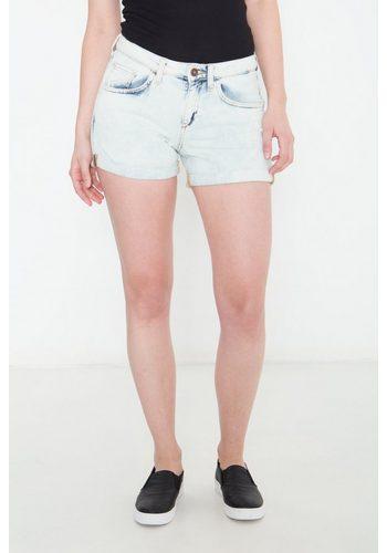 Damen,Kinder,Jungen Colins Jeanshotpants in heller Waschung, Boyfriend Fit blau | 08680594269124
