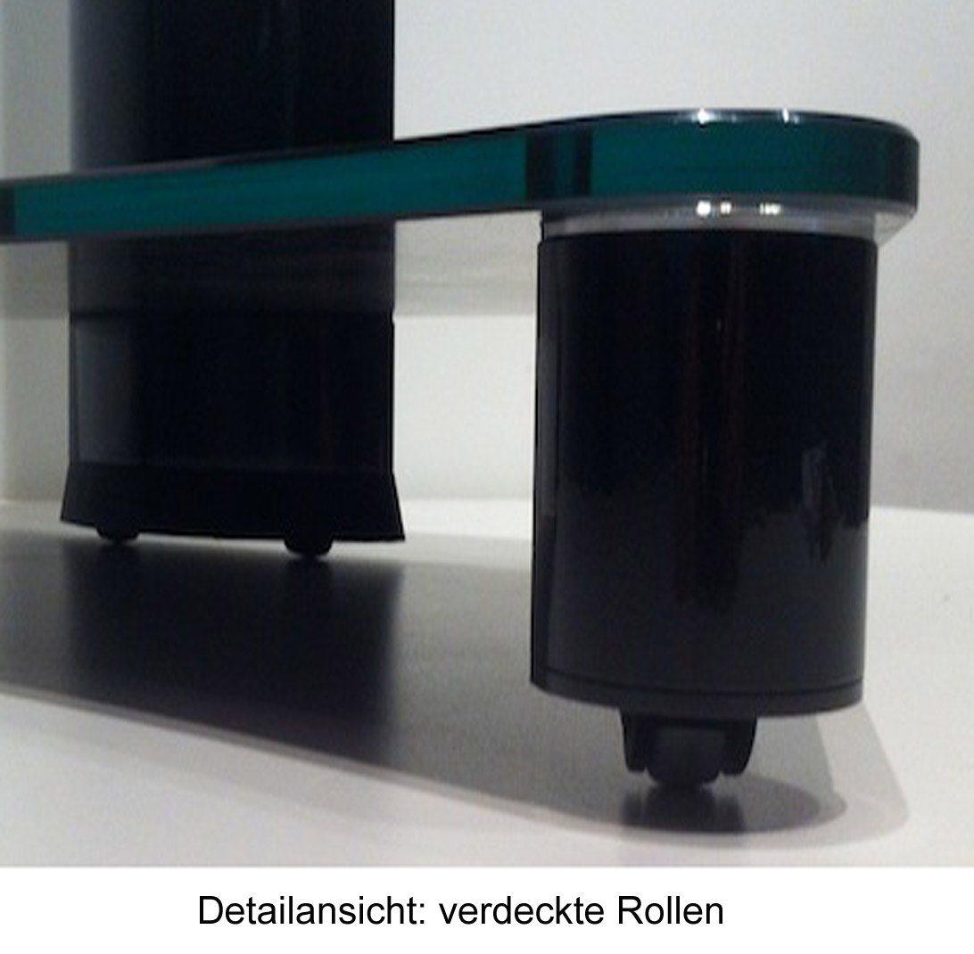 VCM TV-Standfuß ´´Tosal Silber´´ | Wohnzimmer > TV-HiFi-Möbel > Ständer & Standfüße | Schwarz | Aluminium - Sicherheitsglas - Schwarzglas | VCM