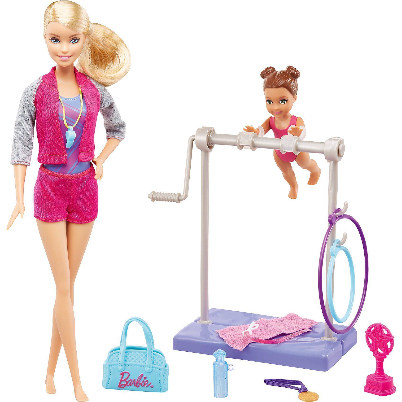 Mattel® Barbie Turntrainerin (blond) Puppe und Spielset
