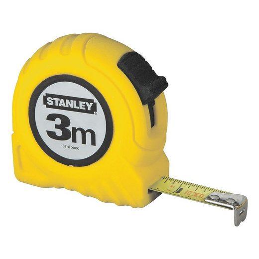 STANLEY Bandmaß 3 m gelbes Kunststoffgehäuse »Powerlock«