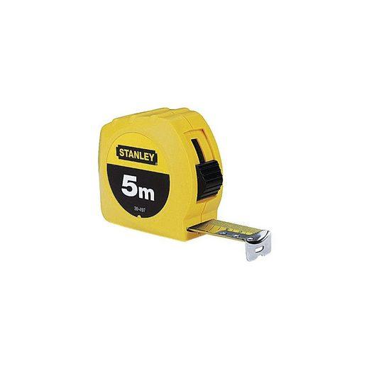 STANLEY Bandmaß 5 m gelbes Kunststoffgehäuse »Powerlock«