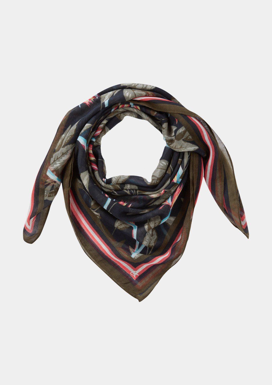 COMMA Leichter Schal mit farbenprächtigem Allovermuster
