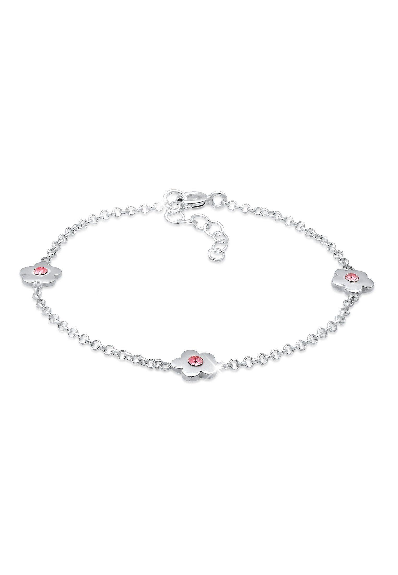 Elli Armband »Kinder Blumen Floral Swarovski® Kristalle Silber«