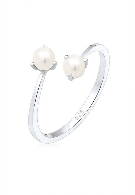 Elli Perlenring »Süßwasserperle Verstellbar One Size 925er Silber« | Schmuck > Ringe > Perlenringe | Elli