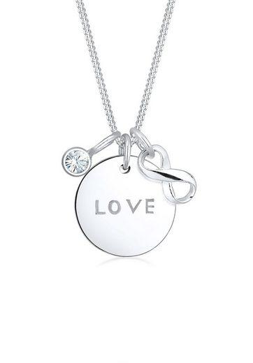 Elli Collierkettchen »Infinity Kristalle 925 Silber Amore«