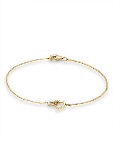 Elli Armband »Herz Verschlungen Lovely Symbol 925 Silber«
