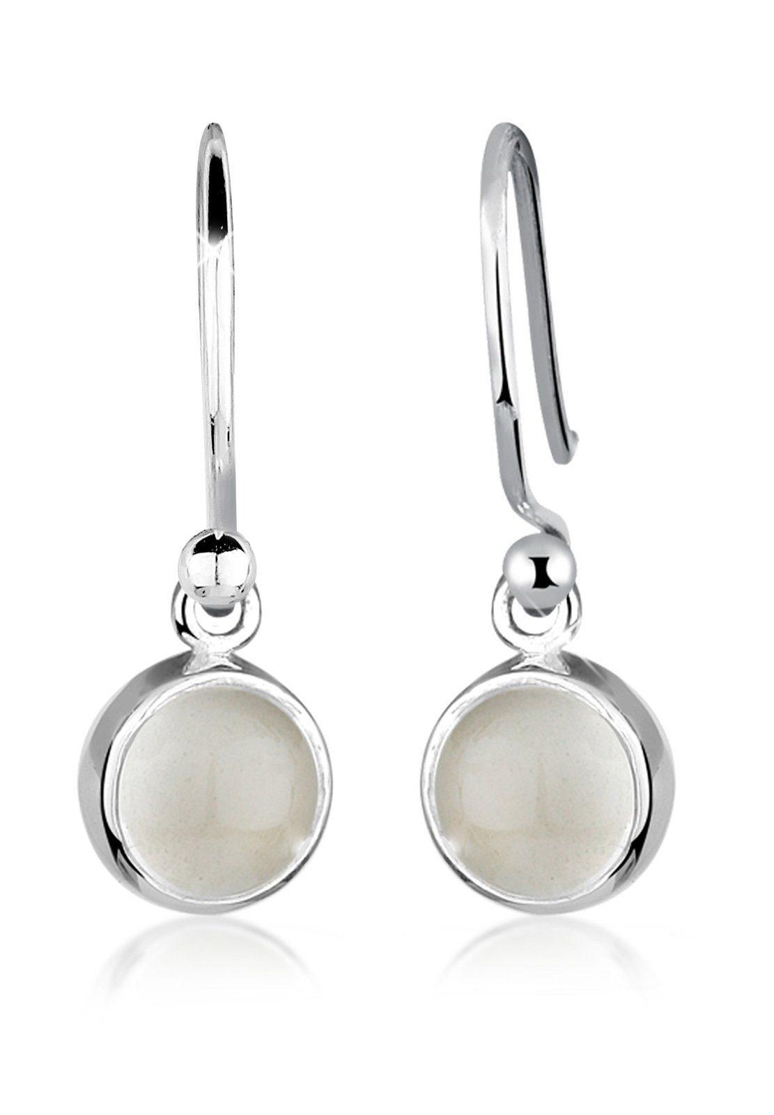 Elli Paar Ohrhänger »Mondstein Moon Astro Basic Elegant 925 Silber«