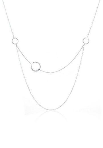 Elli Collierkettchen »Layering Kreis Geo Minimal 925 Sterling Silber«