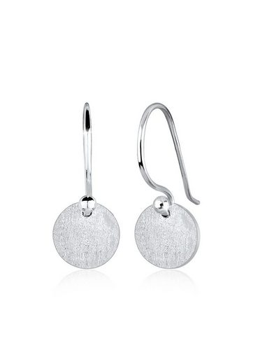 Elli Paar Ohrhänger »Ohrhänge Plättchen Kreis Matt 925 Silber«
