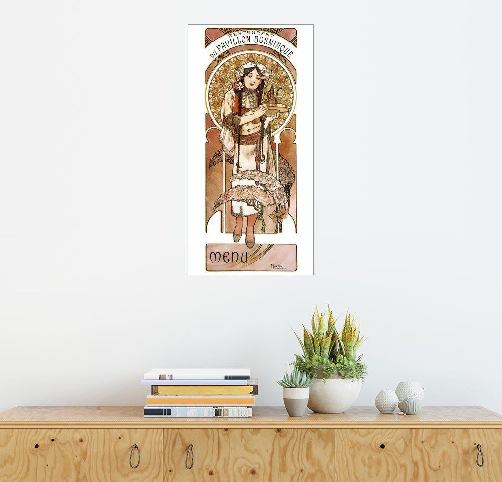 Posterlounge Wandbild - Alfons Mucha »Restaurant Du Pavillon Bosniaque« | Garten > Pavillons | Holz | Posterlounge
