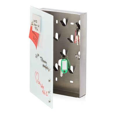 relaxdays Schlüsselkasten »Schlüsselkasten mit Glasmagnettafel«