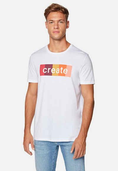 Mavi Rundhalsshirt »CREATE TEE« Printshirt