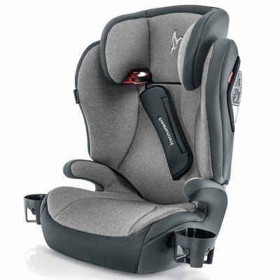 Storchenbeck Autokindersitz »K30 - Grau Anthrazit«, 5.7 kg, (2-tlg), Gruppe 2/3 Kinder Autositz - ab 3 Jahre (15-36 kg)