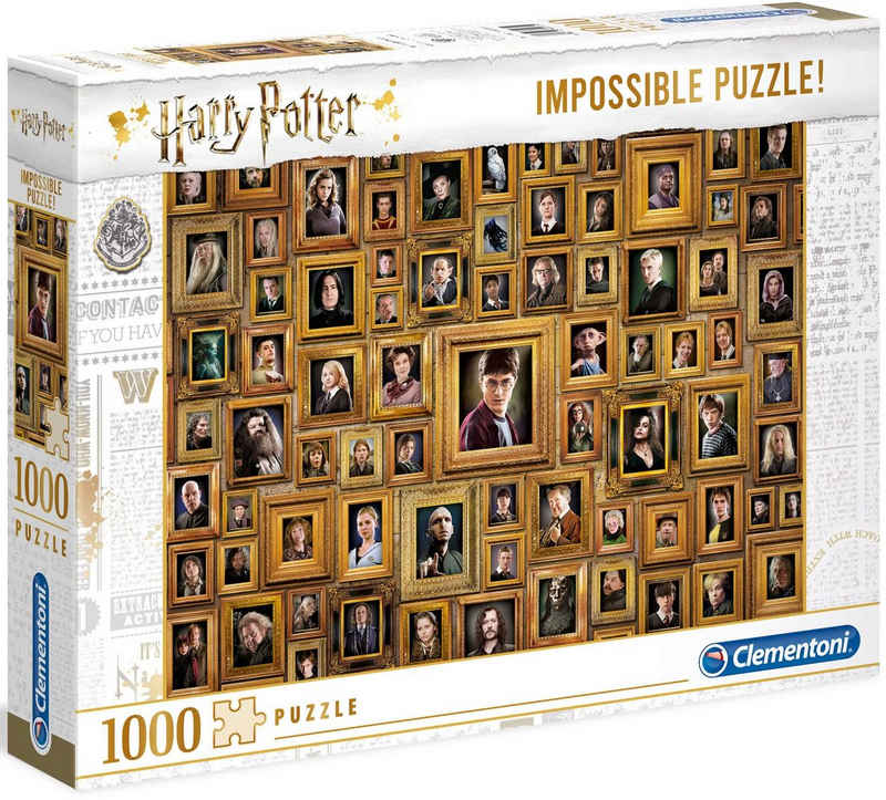 Clementoni® Puzzle »Impossible Collection - Harry Potter«, 1000 Puzzleteile, Made in Europe, FSC® - schützt Wald - weltweit
