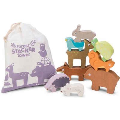 Le Toy Van Stapelspielzeug »Waldtiere Stapelspiel mit Tasche PL087«