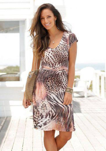 Beachtime Jerseykleid mit Animalprint