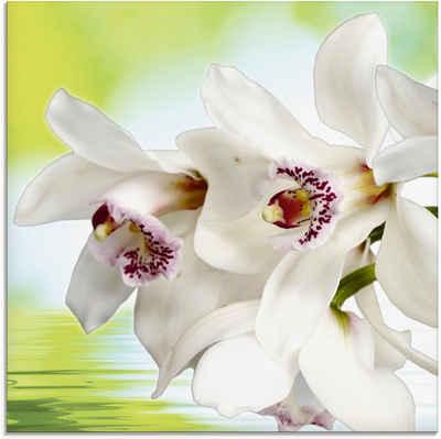 Artland Glasbild »Weiße Orchidee«, Blumen (1 Stück)