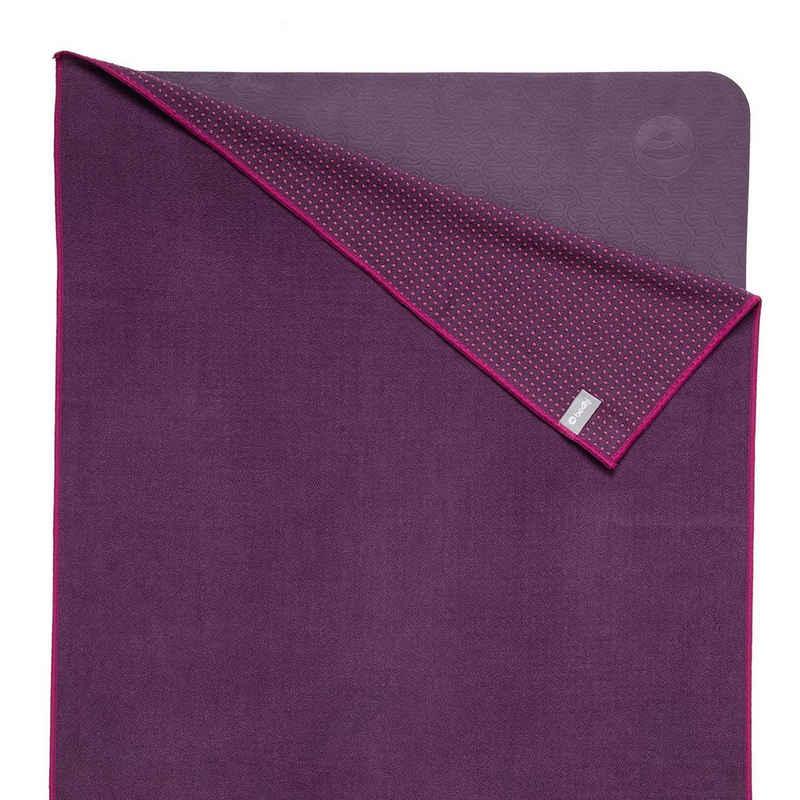 bodhi Sporthandtuch »Yogatuch GRIP ² - Zweifarbig aubergine/lila (neu)«