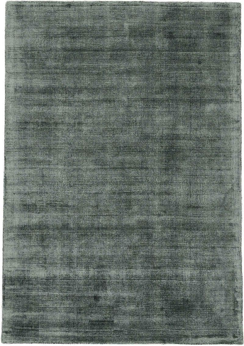 Teppich »Ava«, carpetfine, rechteckig, Höhe 13 mm, Viskoseteppich, Seidenoptik, Wohnzimmer