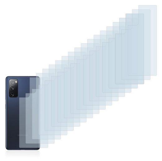 Savvies Schutzfolie »für Samsung Galaxy S20 FE 5G (Rückseite)«, (18 Stück), Folie Schutzfolie klar