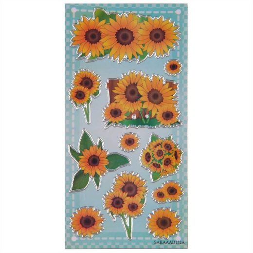 Bestlivings Sticker, (1-tlg), Sammelsticker, Blumensticker, Geschenkaufkleber