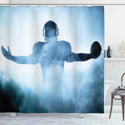 Abakuhaus Duschvorhang »Moderner Digitaldruck mit 12 Haken auf Stoff Wasser Resistent« Breite 175 cm, Höhe 180 cm, Sport American Football-Held