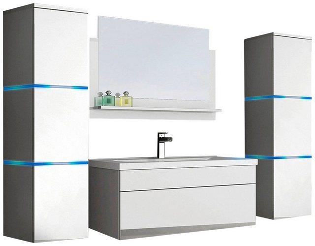 Badezimmer Sets - HOME DELUXE Badmöbel Set »Wangerooge BIG XL«, (3 St), mit Push To Open Technik, edle Hochglanzoptik  - Onlineshop OTTO