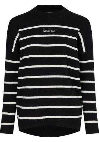 Calvin Klein Streifenpullover »STRIPE KNIT LOGO A-L...