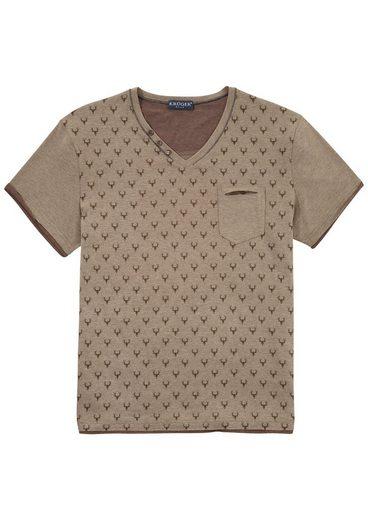 KRÜGER BUAM Trachtenshirt mit Printelementen