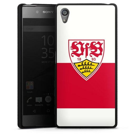 DeinDesign Handyhülle »VfB Stuttgart Brustring« Sony Xperia Z5, Hülle VfB Stuttgart Offizielles Lizenzprodukt Logo