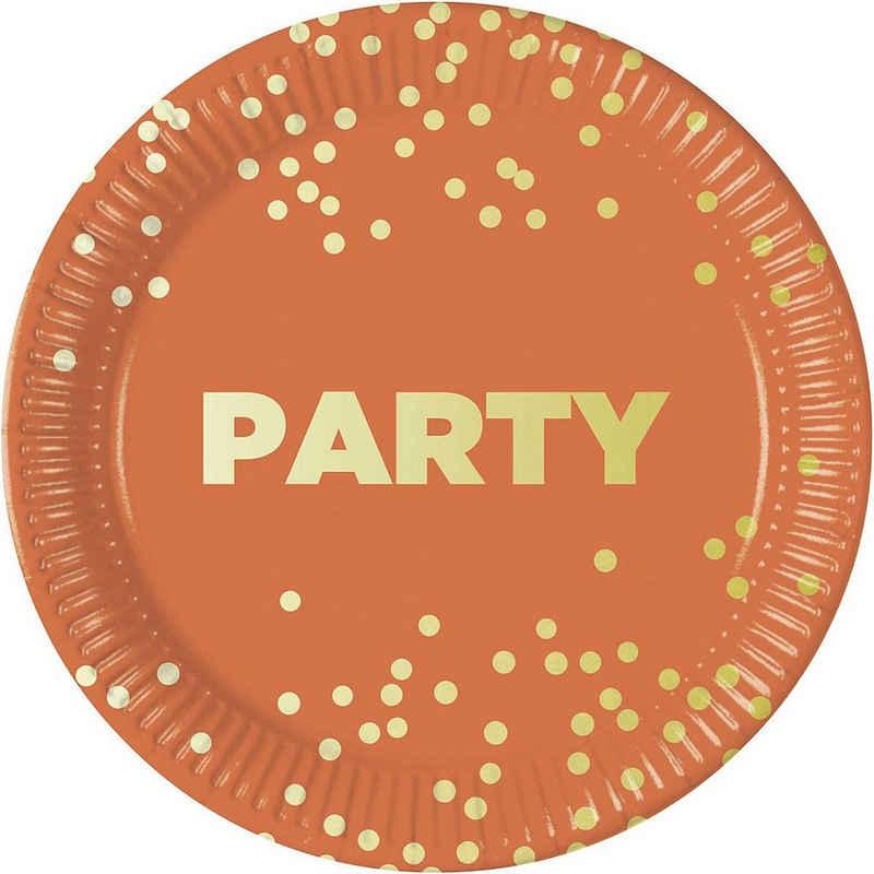Procos Teller »Premium 8 Pappteller 23 cm Design Party Premium«
