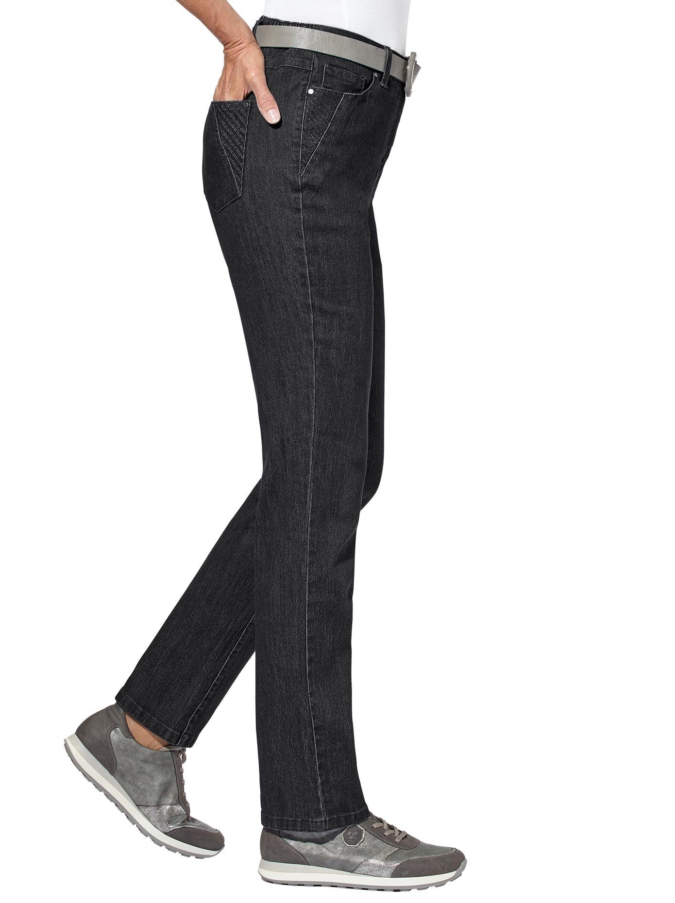 Casual Looks 5-Pocket-Jeans, bequeme Stretch-Qualität xyJjDo