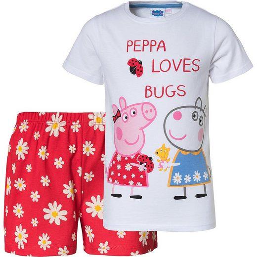 Peppa Pig Schlafanzug »Peppa Pig Schlafanzug für Mädchen«