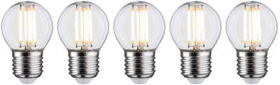 Paulmann »5er Pack 5W Tropfen E27 2700K klar« LED-Filament, E27, 5 Stück, Warmweiß