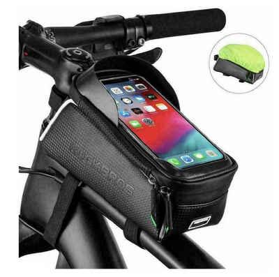 ROCKBROS Fahrradtasche »Fahrrad Rahmentasche Fahrradtasche Oberrohrtasche für 6,0'' Handys + Regenschutz«