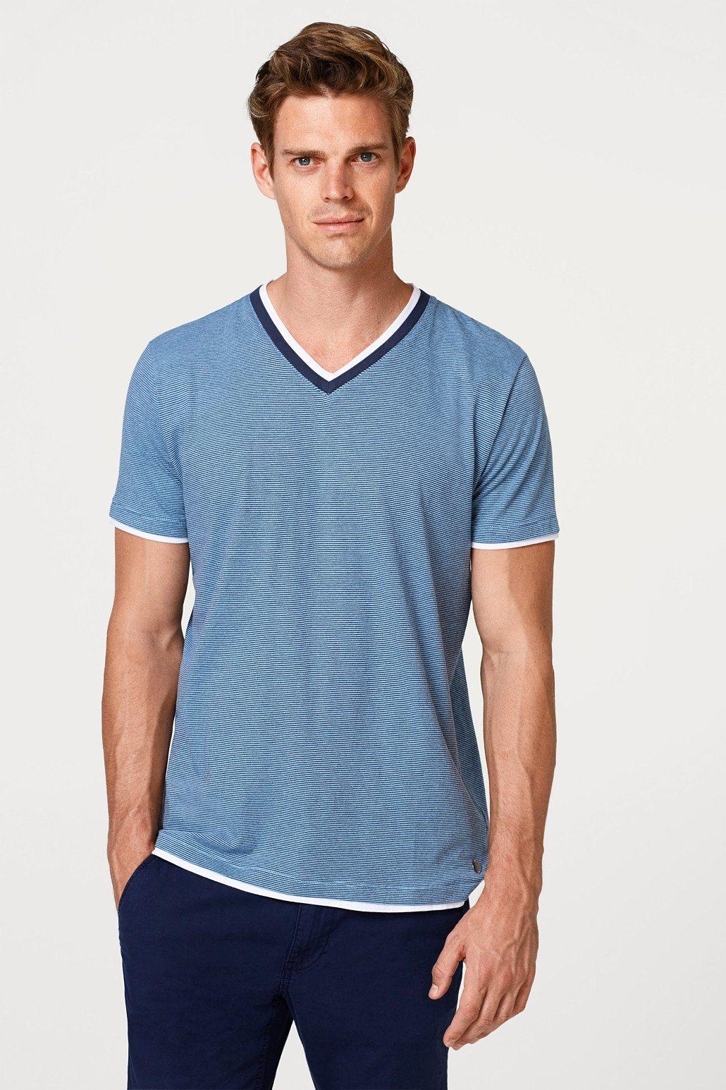 ESPRIT Gestreiftes Layer-Shirt aus Baumwolljersey | Bekleidung > Shirts > Sonstige Shirts | Jersey - Baumwolle | Esprit