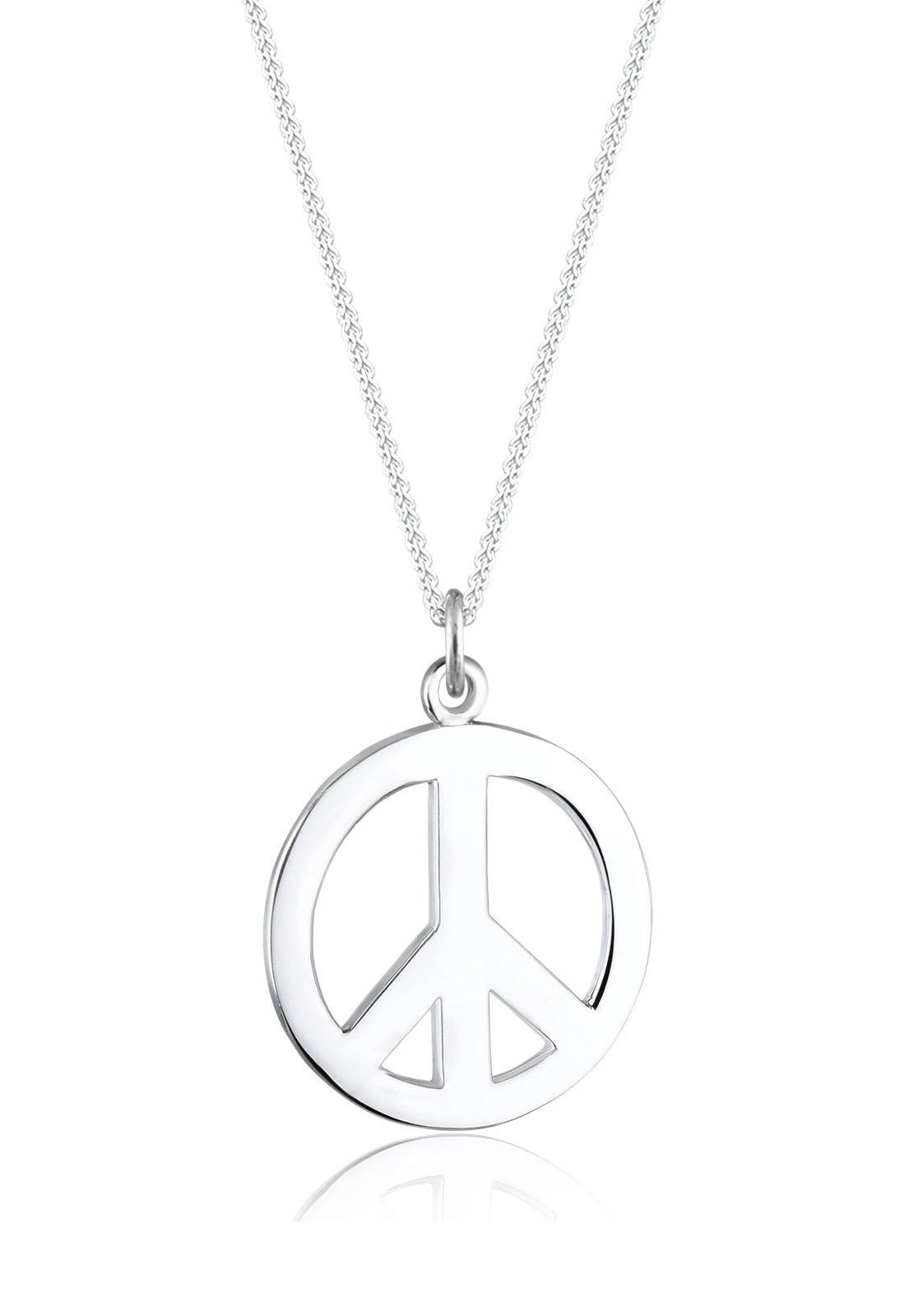 Elli Collierkettchen »Boho Peace Zeichen 925 Sterling Silber«